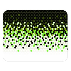 Flat Tech Camouflage Reverse Green Double Sided Flano Blanket (large)  by jumpercat