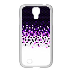 Flat Tech Camouflage Reverse Purple Samsung Galaxy S4 I9500/ I9505 Case (white) by jumpercat