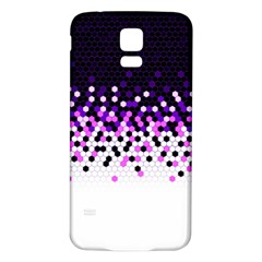 Flat Tech Camouflage Reverse Purple Samsung Galaxy S5 Back Case (white) by jumpercat