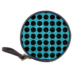 Circles1 Black Marble & Turquoise Glitter Classic 20 Cd Wallets by trendistuff