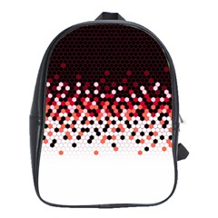 Flat Tech Camouflage Reverse Red School Bag (xl) by jumpercat