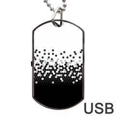 Flat Tech Camouflage White And Black Dog Tag Usb Flash (one Side) by jumpercat