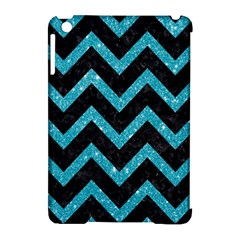 Chevron9 Black Marble & Turquoise Glitter (r) Apple Ipad Mini Hardshell Case (compatible With Smart Cover) by trendistuff