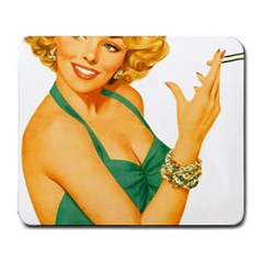 Woman 792872 1920 Large Mousepads by vintage2030