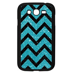 Chevron9 Black Marble & Turquoise Glitter Samsung Galaxy Grand Duos I9082 Case (black) by trendistuff