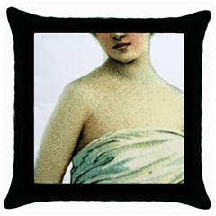 Lady 781311 1920 Throw Pillow Case (black) by vintage2030