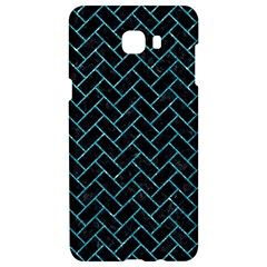 Brick2 Black Marble & Turquoise Glitter (r) Samsung C9 Pro Hardshell Case  by trendistuff
