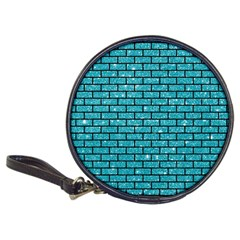 Brick1 Black Marble & Turquoise Glitter Classic 20 Cd Wallets by trendistuff