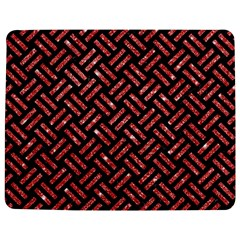 Woven2 Black Marble & Red Glitter (r)woven2 Black Marble & Red Glitter (r) Jigsaw Puzzle Photo Stand (rectangular) by trendistuff