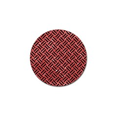 Woven2 Black Marble & Red Glitter Golf Ball Marker (10 Pack) by trendistuff
