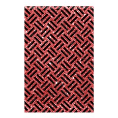 Woven2 Black Marble & Red Glitter Shower Curtain 48  X 72  (small)  by trendistuff