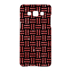 Woven1 Black Marble & Red Glitter (r) Samsung Galaxy A5 Hardshell Case  by trendistuff