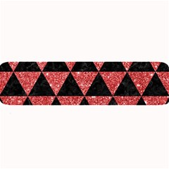 Triangle3 Black Marble & Red Glitter Large Bar Mats by trendistuff