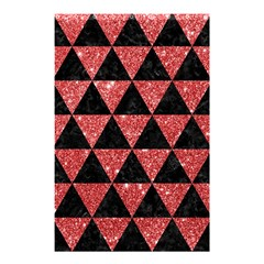 Triangle3 Black Marble & Red Glitter Shower Curtain 48  X 72  (small)  by trendistuff