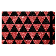 Triangle3 Black Marble & Red Glitter Apple Ipad Pro 9 7   Flip Case by trendistuff