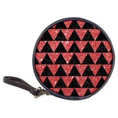 Triangle2 Black Marble & Red Glitter Classic 20 Cd Wallets