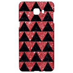 Triangle2 Black Marble & Red Glitter Samsung C9 Pro Hardshell Case  by trendistuff