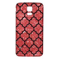 Tile1 Black Marble & Red Glitter Samsung Galaxy S5 Back Case (white) by trendistuff