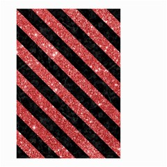 Stripes3 Black Marble & Red Glitter Small Garden Flag (two Sides) by trendistuff