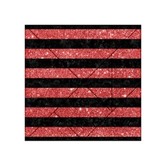 Stripes2black Marble & Red Glitter Acrylic Tangram Puzzle (4  X 4 ) by trendistuff