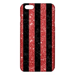 Stripes1 Black Marble & Red Glitter Iphone 6 Plus/6s Plus Tpu Case by trendistuff
