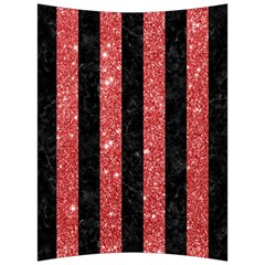 Stripes1 Black Marble & Red Glitter Back Support Cushion by trendistuff
