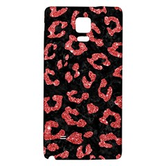 Skin5 Black Marble & Red Glitter Galaxy Note 4 Back Case by trendistuff