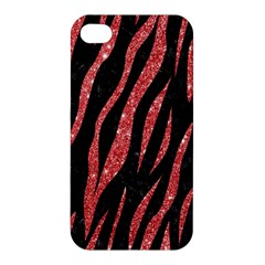 Skin3 Black Marble & Red Glitter (r) Apple Iphone 4/4s Hardshell Case by trendistuff