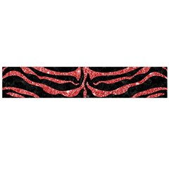 Skin2 Black Marble & Red Glitter (r) Large Flano Scarf  by trendistuff