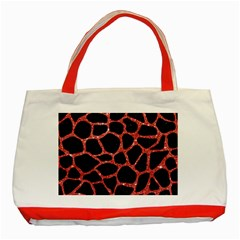 Skin1 Black Marble & Red Glitter Classic Tote Bag (red) by trendistuff