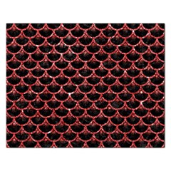 Scales3 Black Marble & Red Glitter (r) Rectangular Jigsaw Puzzl by trendistuff