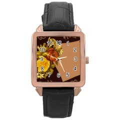 Place Card 1954137 1920 Rose Gold Leather Watch  by vintage2030