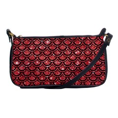 Scales2 Black Marble & Red Glitter Shoulder Clutch Bags by trendistuff