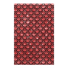 Scales2 Black Marble & Red Glitter Shower Curtain 48  X 72  (small)  by trendistuff