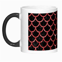 Scales1 Black Marble & Red Glitter (r) Morph Mugs by trendistuff