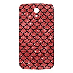 Scales1 Black Marble & Red Glitter Samsung Galaxy Mega I9200 Hardshell Back Case by trendistuff