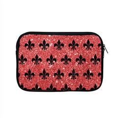 Royal1 Black Marble & Red Glitter (r) Apple Macbook Pro 15  Zipper Case by trendistuff