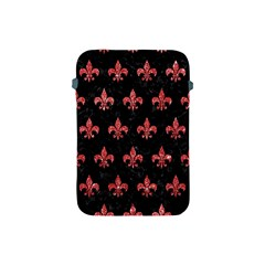 Royal1 Black Marble & Red Glitter Apple Ipad Mini Protective Soft Cases by trendistuff