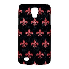 Royal1 Black Marble & Red Glitter Galaxy S4 Active by trendistuff