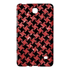 Houndstooth2 Black Marble & Red Glitterhoundstooth2 Black Marble & Red Glitter Samsung Galaxy Tab 4 (8 ) Hardshell Case
