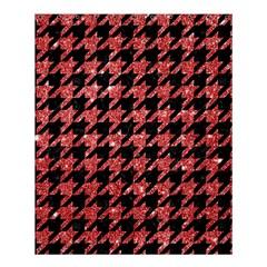 Houndstooth1 Black Marble & Red Glitter Shower Curtain 60  X 72  (medium)  by trendistuff