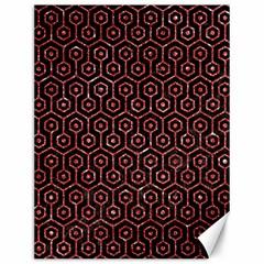 Hexagon1 Black Marble & Red Glitter (r) Canvas 12  X 16   by trendistuff