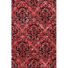 Damask1 Black Marble & Red Glitter 5 5  X 8 5  Notebooks by trendistuff