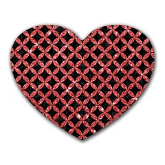 Circles3 Black Marble & Red Glitter (r) Heart Mousepads by trendistuff