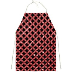 Circles3 Black Marble & Red Glitter (r) Full Print Aprons by trendistuff