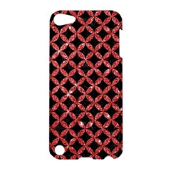Circles3 Black Marble & Red Glitter (r) Apple Ipod Touch 5 Hardshell Case by trendistuff