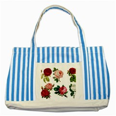 Roses 1770165 1920 Striped Blue Tote Bag by vintage2030