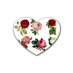 Roses 1770165 1920 Rubber Coaster (heart)  by vintage2030