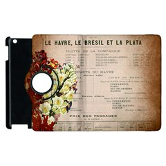 Letter Floral Apple Ipad 3/4 Flip 360 Case by vintage2030