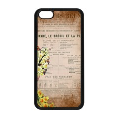 Letter Floral Apple Iphone 5c Seamless Case (black) by vintage2030